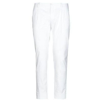 OBVIOUS BASIC パンツ ホワイト 48 コットン 97% / ポリウレタン 3% パンツ