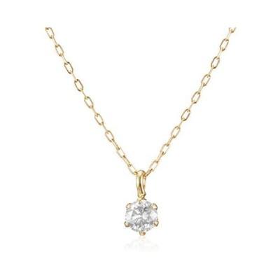 [ディーコレクション] D-COLLECTION 18金イエローゴールドダイヤモンドネックレス 0.2ct DS20096YG