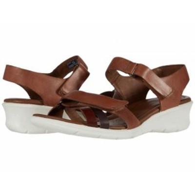 ECCO エコー レディース 女性用 シューズ 靴 ヒール Felicia Ankle Strap Sandal Brandy/Coffee/Mahogany Calf Leather/Cow【送料無料】