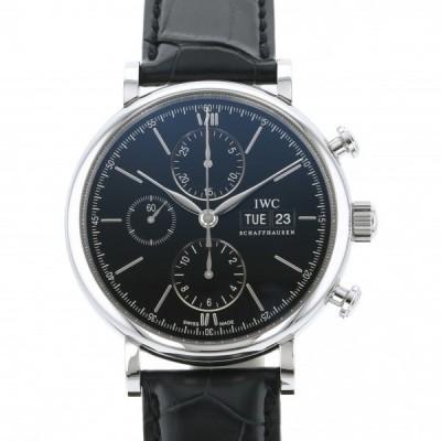 IWC ポートフィノ クロノグラフ IW391029 ブラック文字盤 新品 腕時計 メンズ