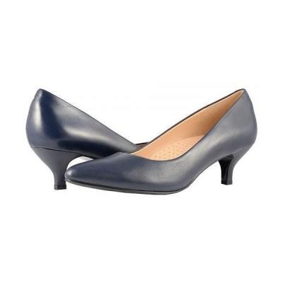 Trotters トロッターズ レディース 女性用 シューズ 靴 ヒール Kiera - Navy Soft Leather