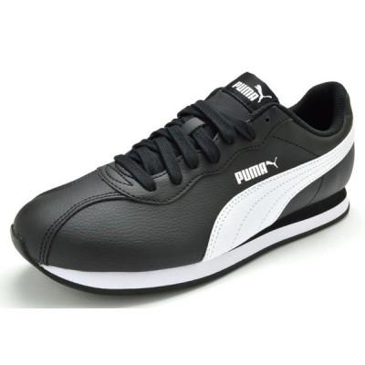 プーマ PUMA 366962 TURIN 2 スニーカー ローカット メンズ 紳士 01 ブラック/ホワイト 靴