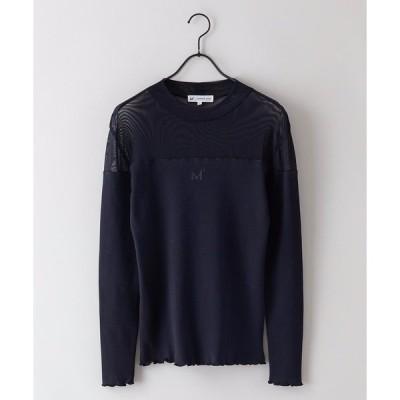 tシャツ Tシャツ 【MIKASA×景井ひな】コラボ企画 シースルーロンT 肩の部分の透け感がポイント