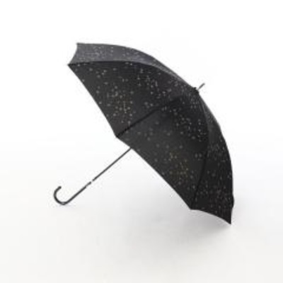 アフタヌーンティーリビングスター柄晴雨兼用ジャンプ長傘 雨傘/ブラック/―