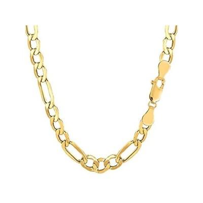 """【新品】14K Yellow Gold Filled Solid Figaro Chain Bracelet, 6.0 mm, 8.5"""""""