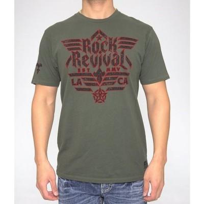 ロックリバイバル メンズ シャツ トップス Flocked Graphic Short-Sleeve T-Shirt
