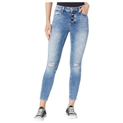 マヴィジーンズ ユニセックス パンツ Tess High-Rise Ankle Skinny in Used Ripped Vintage