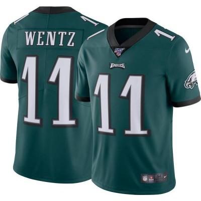 ナイキ メンズ シャツ トップス Nike Men's 100th Home Limited Jersey Philadelphia Eagles Carson Wentz #11