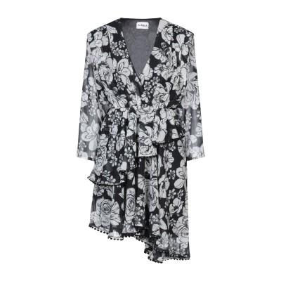 アイネア AINEA ミニワンピース&ドレス ブラック 40 シルク 100% ミニワンピース&ドレス