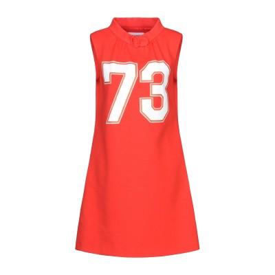 モスキーノ MOSCHINO ミニワンピース&ドレス レッド 42 コットン 80% / ナイロン 11% / ポリウレタン 9% ミニワンピース&
