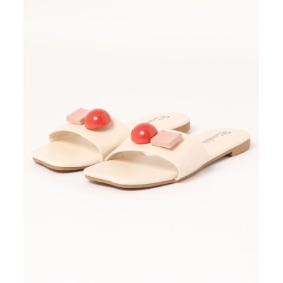 STYLEBLOCK / アッパー装飾フラットサンダル WOMEN シューズ > サンダル