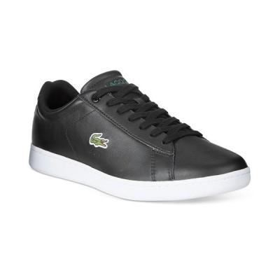 ラコステ スニーカー シューズ メンズ Men's Carnaby Leather Sneakers Black