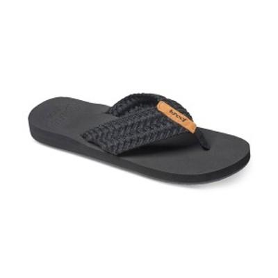 リーフ レディース サンダル シューズ Cushion Threads Flip-Flops Black