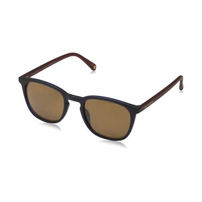 Ted Baker London Men's Riggs Sunglasses, Blue Charcoal/Brown, 50 並行輸入品