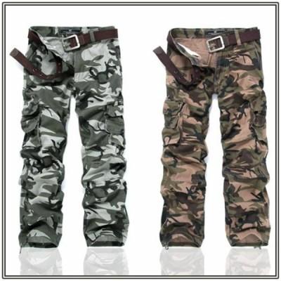 カーゴパンツ メンズ迷彩柄パンツ かっこいい パンツ ボトムス 太めパンツ ボトムス メンズ メンズカジュアルパンツ 綿パン