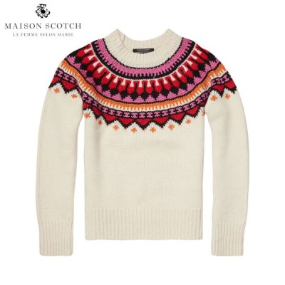 メゾンスコッチ MAISON SCOTCH 正規販売店 レディース セーター Soft chunky jacquard k 父の日 ギフト プレゼント