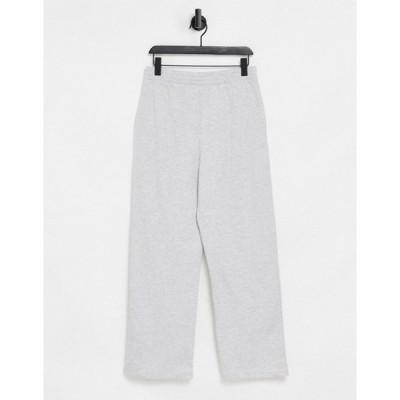 エイソス レディース カジュアルパンツ ボトムス ASOS DESIGN lounge straight leg sweatpants in gray heather