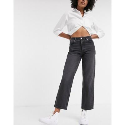 セレクティッド レディース デニムパンツ ボトムス Selected Femme straight leg jeans in washed gray
