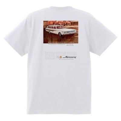 アドバタイジング マーキュリーTシャツ 白 1169 黒地へ変更可 1965 モントレー クーガー パークレーン ホットロッド レトロ