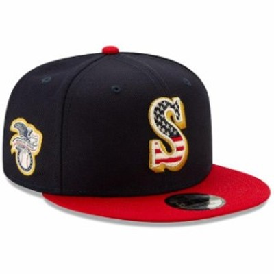 New Era ニュー エラ 帽子 キャップ New Era Seattle Mariners Navy/Red 2019 Stars & Stripes 4th of July 9FIFTY Adjustable Hat