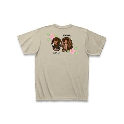コナリノちゃん・バックプリント Tシャツ Pure Color Print(シルバーグレー)