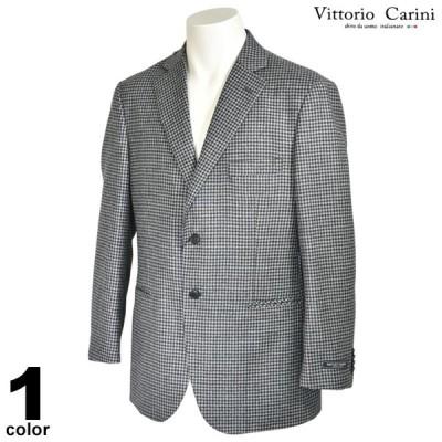 セール 80%OFF carini カリーニ テーラージャケット メンズ 秋冬 ウール チェック ロゴ 3130-6019