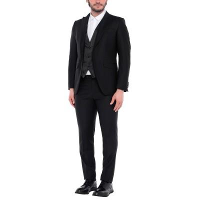 TOMBOLINI スーツ ブラック 52 バージンウール 100% スーツ