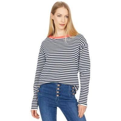 マイケルスターズ レディース ニット・セーター アウター Ringer Pullover Contrast Neck Sweater