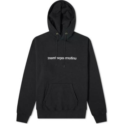 ユニフォームエクスペリメント Uniform Experiment メンズ パーカー トップス Mirror Logo Hoody Black