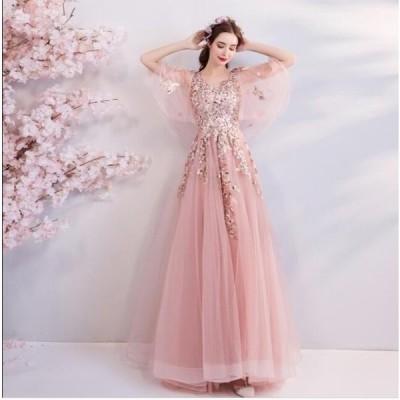 セール 結婚式 花嫁 パーティードレス  プリンセスライン 素敵 ウエディングドレス ブライダル ワンピース 冠婚 ロング丈 綺麗 二次会ドレス 女性 体型カバー