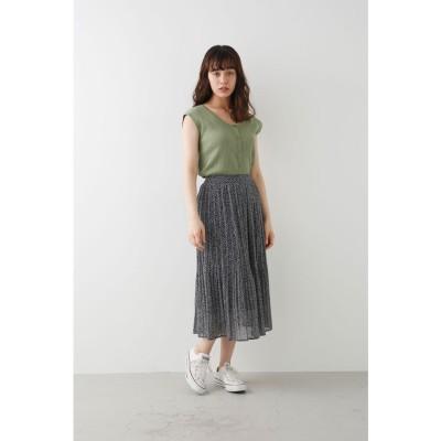 アヴァンリリィ Avan Lily ANNA FLOWER スカート (ブラック)