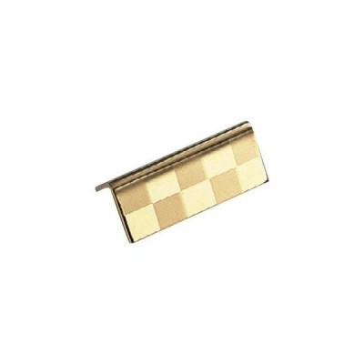 【まとめ買い10個セット品】 UK 18-8 箸置 三角(市松模様)金仕上【 カトラリー・箸 】