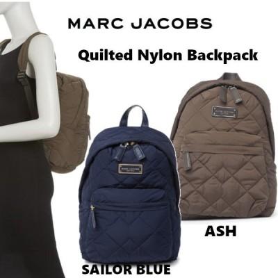 マークジェイコブス Marc Jacobs Quilted Nylon Backpack キルティング ナイロン バックパック リュック アッシュ A4 US正規品・送料無料 US直輸入