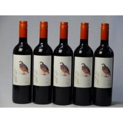 5本セット ミディアムボディ赤ワイン デルスール カルメネール(チリ) 750ml×5本
