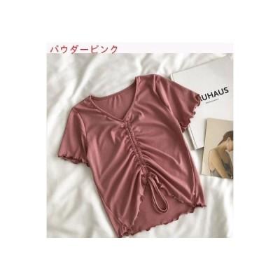 【送料無料】小 デザイン 感 ひだ寄せ キクラゲなようなエッジ シャツ 女 夏 韓国 | 346770_A62628-2226934