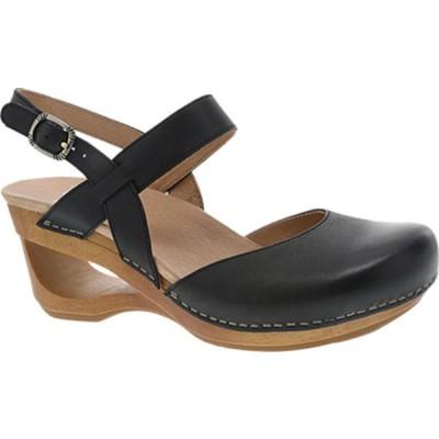 ダンスコ サンダル シューズ レディース Taci Closed Toe Sandal (Women's) Black Waxy Calf