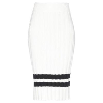 ピンコ PINKO 7分丈スカート アイボリー XS コットン 50% / アクリル 50% 7分丈スカート