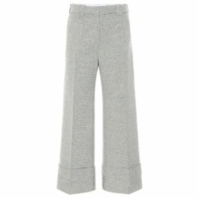 J.W.アンダーソン JW Anderson レディース ボトムス・パンツ mid-rise wide-leg pants off white