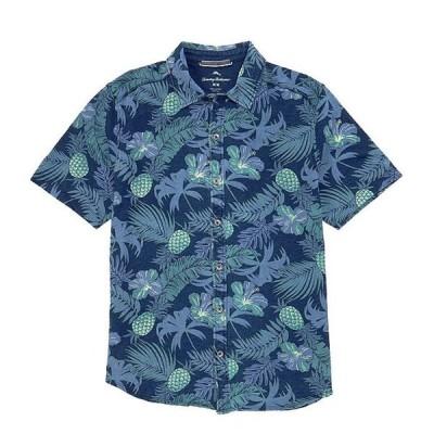 トッミーバハマ メンズ シャツ トップス Midnight Coral Short-Sleeve Woven Camp Shirt