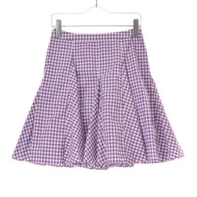 The Virgnia / ザヴァージニア ギンガムチェックシャツ地サーキュラースカート スカート
