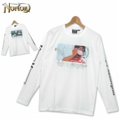 ノートン クルーネック 長袖Tシャツ メンズ 昇華プリントロゴプリント 193N1111 Norton【新品】19FW 長そで シャツ ウェア トップス Uネ
