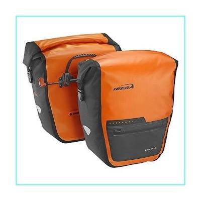 Ibera Bike Pannier Bag - PakRak Clip-On Quick-Release Waterproof Bicycle Panniers (Pair) (ORANGE)並行輸入品