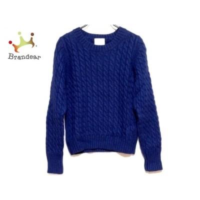ウィムガゼット whim gazette 長袖セーター サイズF レディース ブルー 新着 20200601