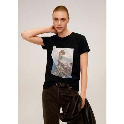 Tシャツ .-- WOMAN (ブラック)