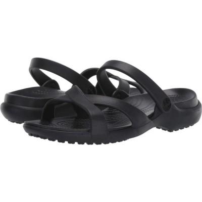 クロックス Crocs レディース サンダル・ミュール シューズ・靴 Meleen Crossband Sandal Black