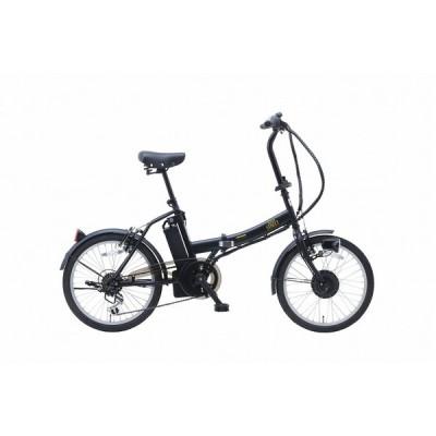 景品/販促品向けSUISUI Street 20インチ電動アシスト折り畳み自転車 6段変速 マットブラック  ノベルティ用オリジナル対応/見積もりに!