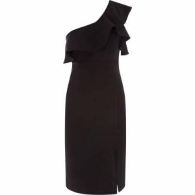 バルドー Bardot レディース パーティードレス ミニ丈 ワンピース・ドレス Ruffled mini dress Black