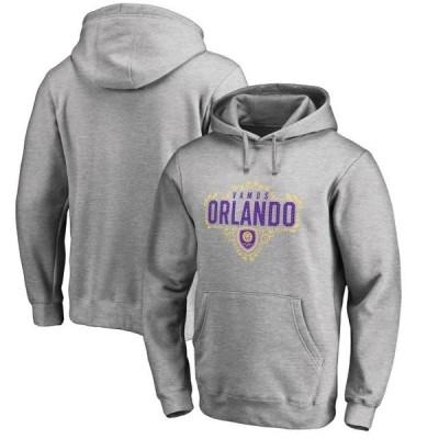 ユニセックス スポーツリーグ サッカー Orlando City SC Fanatics Branded Hometown Collection Pullover Hoodie - Heathered Gray