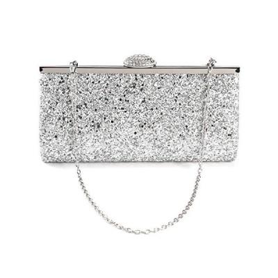 Anladia All-Over Glitter Design Women Clutch Evening Handbag Clasp W Shiny Rhinestones【並行輸入品】