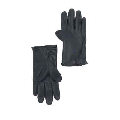 アグ メンズ 手袋 アクセサリー Tabbed Splice Vent Leather Gloves NAVY